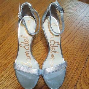 Sam Edelman NWOT Eleanor Silver Strapy Heels 8.5